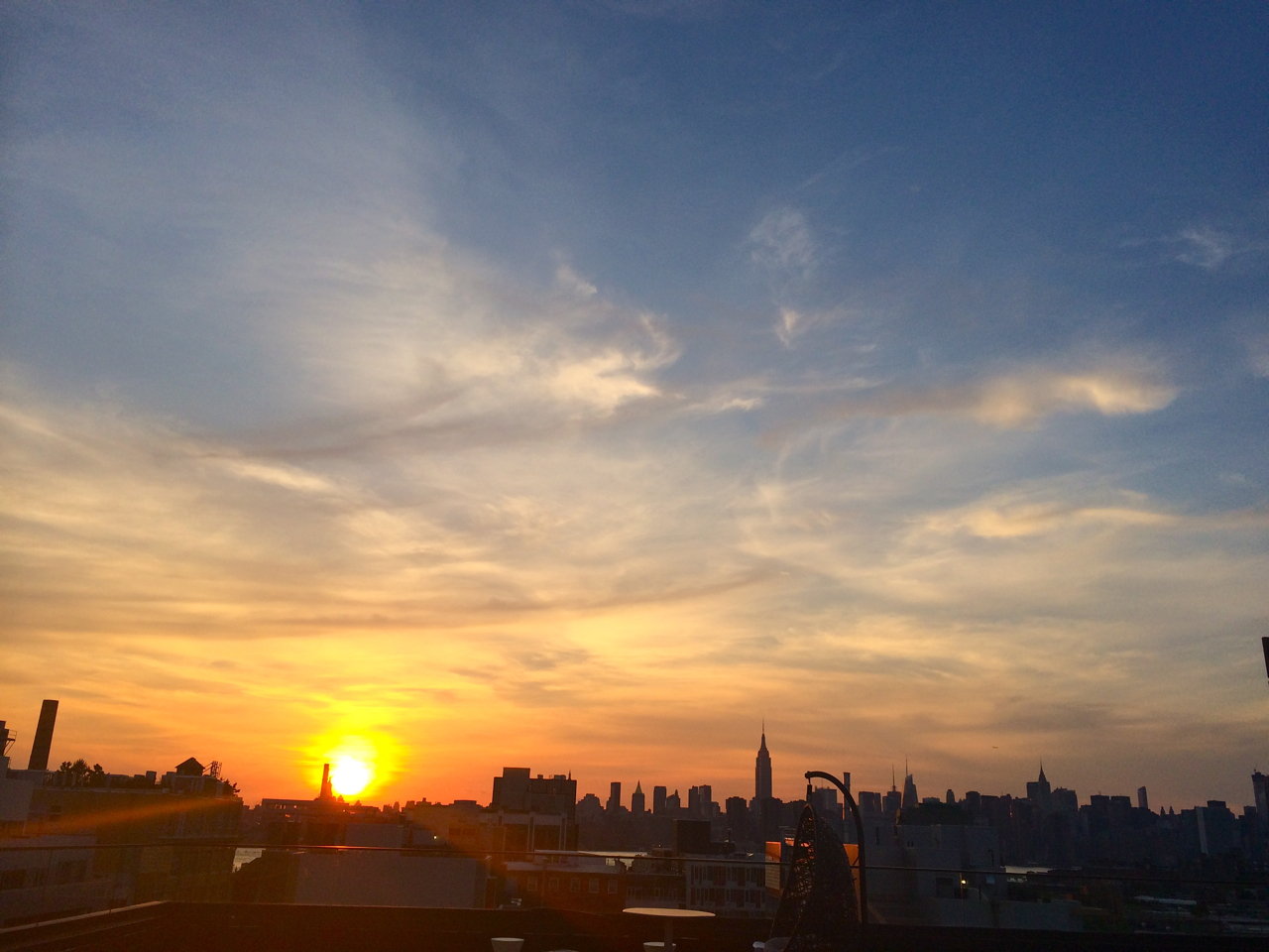 Rooftop Sunset Brooklyn